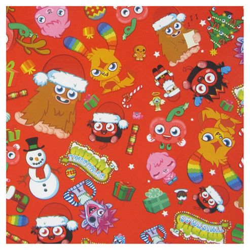 Moshi Monster Christmas Wrapping Paper, 6m