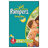 Pampers Baby Dry Size 4 Essential Pack - 45 nappies