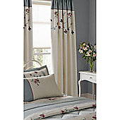 Catherine Lansfield Home Signature Butterfly Blossom Curtains 168cm wide x 183cm drop (66x72 inches) Duck Egg