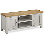 Cotswold Painted 120cm TV Stand - Matt Stone Grey