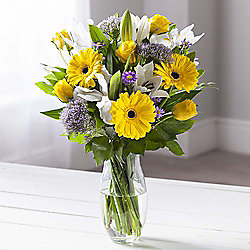 Yellow Gerbera & Lily Sunshine