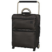 IT Luggage World's Lightest 2-Wheel Suitcase, Turkish Coffee Small