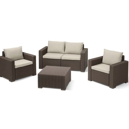 buy allibert california garden set seats 4 brown from. Black Bedroom Furniture Sets. Home Design Ideas