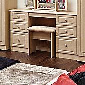 Welcome Furniture Pembroke Kneehole Dressing Table - Light Oak