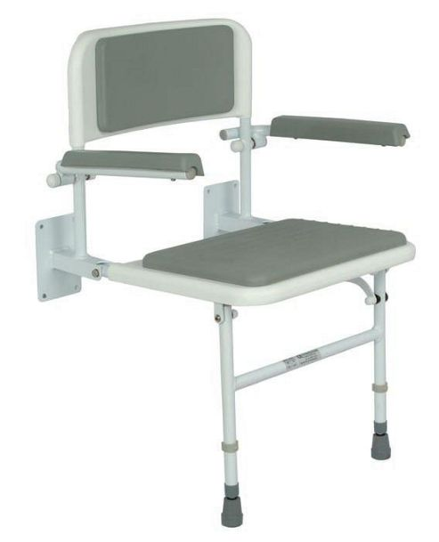 Buy Impey Deluxe Fold Down Padded Shower Seat With Back And Arms From Our Sho