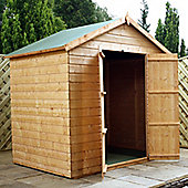 Mercia Garden Products Modular Apex Shed with Double Doors and Windowless - 220 cm H x 232 cm W x 155 cm D