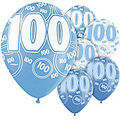 100th 12' Latex Balloons (6pk)