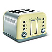 Morphy Richards 242003 Accents Stainless Steel 4 Slice Toaster 1800W - Cream