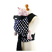 Palm and Pond Mei Tai Baby Carrier – Blue with White Spots