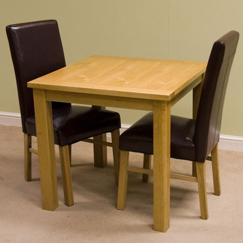 G&P Furniture Square Fixed Top Oak Dining Table
