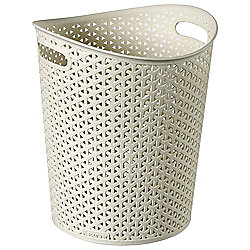 Curver My Style 12.5L Waste Bin with Handles, Cream