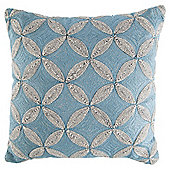 Blue Arai Flower Cushion