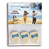Mahalo Felt Ukulele Plectrums - Pack of 3