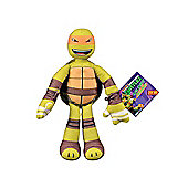 "Teenage Mutant Ninja Turtles Sling Shouts 9"" Plush Michelangelo Orange"