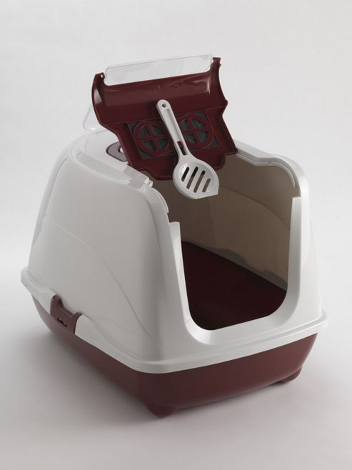 Moderna Products Flip Cat Litter Box - Deep Red - 50cm