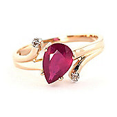 QP Jewellers Diamond & Ruby Flank Ring in 14K Rose Gold