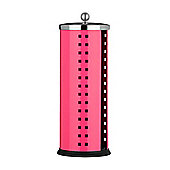 Premier Housewares Toilet Roll Holder with Lid - Hot Pink