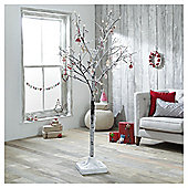 Dobbies Berry Snow Covered Twig Tree, 6ft