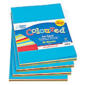 A4 Coloured Card (220gsm) (Pack of 50)