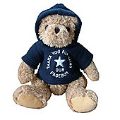 Pageboy Wedding Bear with Navy Fleece