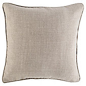 Textured Plain Cushion 43 x 43, Taupe