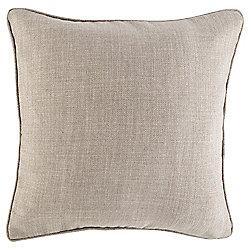 Textured Plain Cushion 43 x 43, Taupe