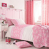 Delicate Butterfly Single Duvet, Eyelet Curtains 72s and Comforter Pack