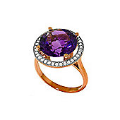 QP Jewellers Diamond & Amethyst Ring in 14K Rose Gold