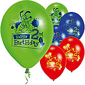 9' Disney Mickey Mouse 2nd Birthday (6pk)
