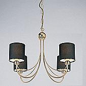 Endon Lighting Figaro Four Light Chandelier in Gold