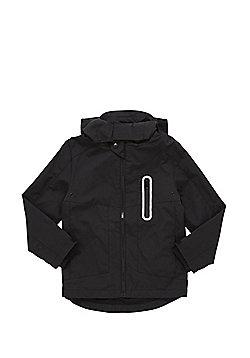 F&F Lightweight Hooded Mac - Black