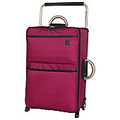 IT Luggage World's Lightest 2-Wheel Medium Cerise Suitcase