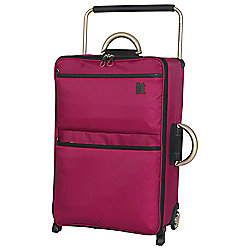 IT Luggage World's Lightest 2-Wheel Suitcase, Cerise Medium