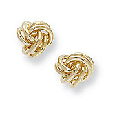 Jewelco London 9ct Yellow Gold - Knot Earrings -