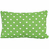 Homescapes Cotton Green Stars Scatter Cushion, 30 x 50 cm