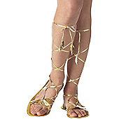 Adult Golden Goddess Sandals Small