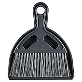 Camping Tent Dustpan & Brush Set Grey