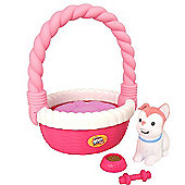 Little Live Pets Sweet Talking Puppy in Basket - Blossy