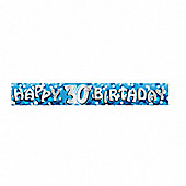 Party - Blue Happy 30th Birthday banner 9ft - Amscan