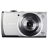 "Canon A3500 Digital Camera Silver, 16MP, 5x Optical Zoom, 2.7"" LCD Screen"