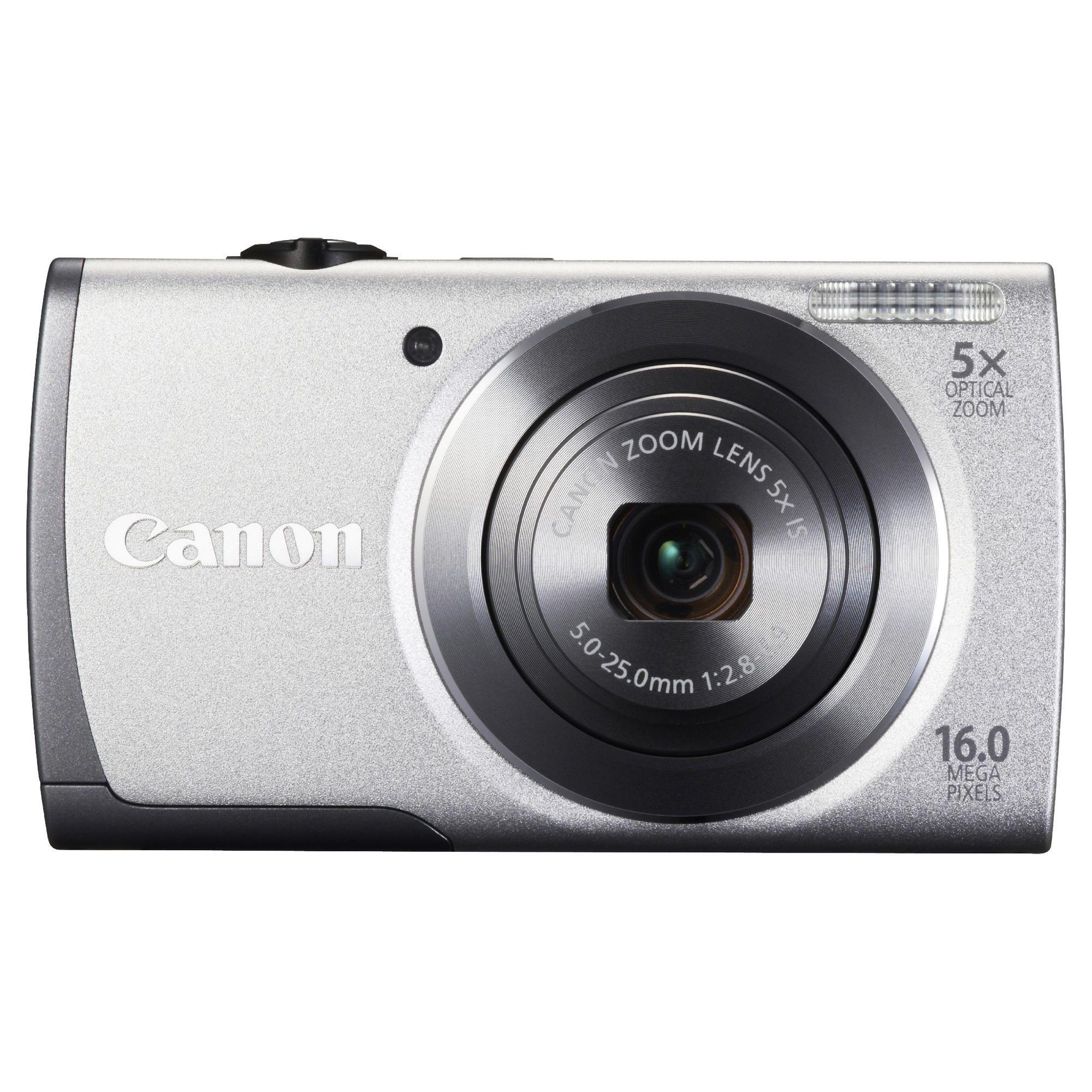 Canon A3500 Digital Camera, Silver, 16MP, 5x Optical Zoom, 2.7 inch LCD Screen