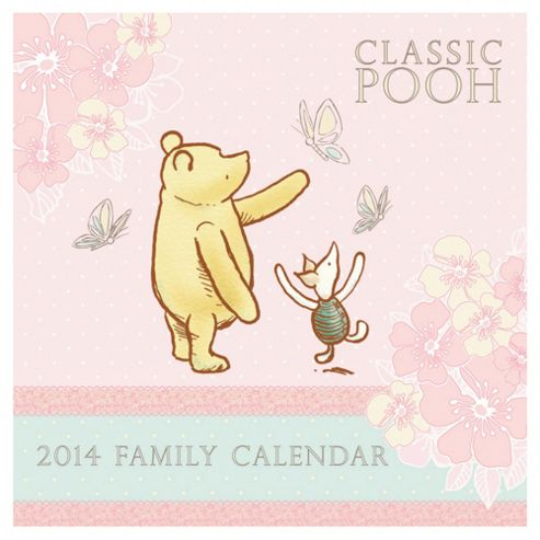 Classic Winnie the Pooh 2014 Family Calendar