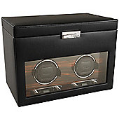 Wolf Designs Watch Winder with Cover and Storage - Double