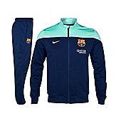 2013-14 Barcelona Nike Woven Tracksuit (Green-Navy) - Kids - Navy