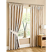 Swirl Ready Made Pencil Pleat Curtains - Fully Lined - 4 Colours Available - Beige