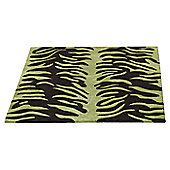 Ultimate Rug Co Aspire Tigre Chocolate / Green Contemporary Rug - 150cm x 240cm