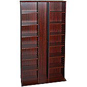 CD DVD Blu-ray Media Storage Shelves - Mahogany