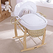 Clair de Lune Palm Moses Basket (Starburst White)