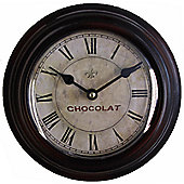 Wicker Valley Chocolat Wall Clock - 20 cm