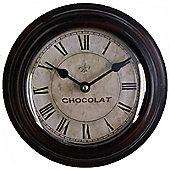 Wicker Valley Chocolat Wall Clock - 20 cm